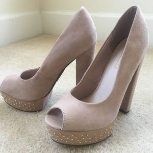Topshop Staccato Heels in Blush/Nude size 8.5